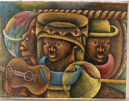 Marcel Allay. Three Musicians.