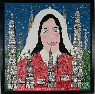 Howard Finster. Vision Of Mary's Angel.
