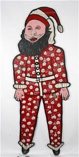 Howard Finster. Giant Santa.