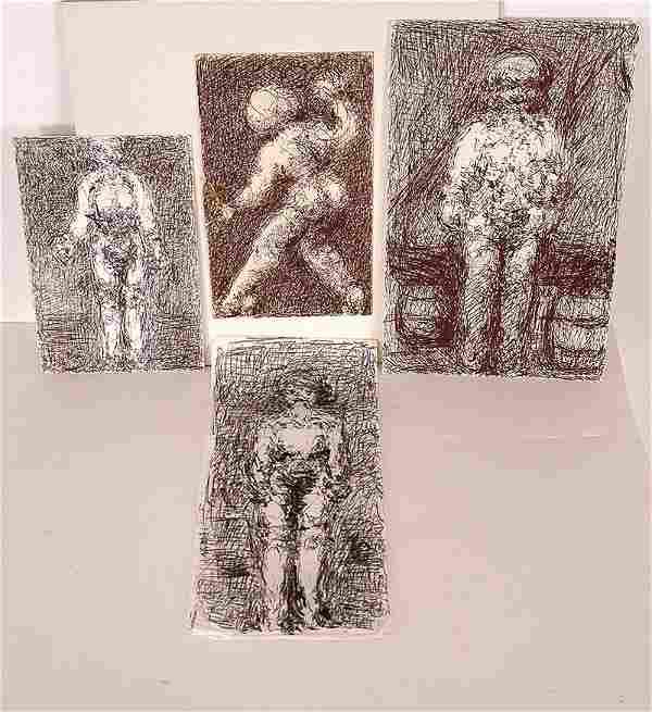 Malcolm McKesson. 4 Smaller Drawings.