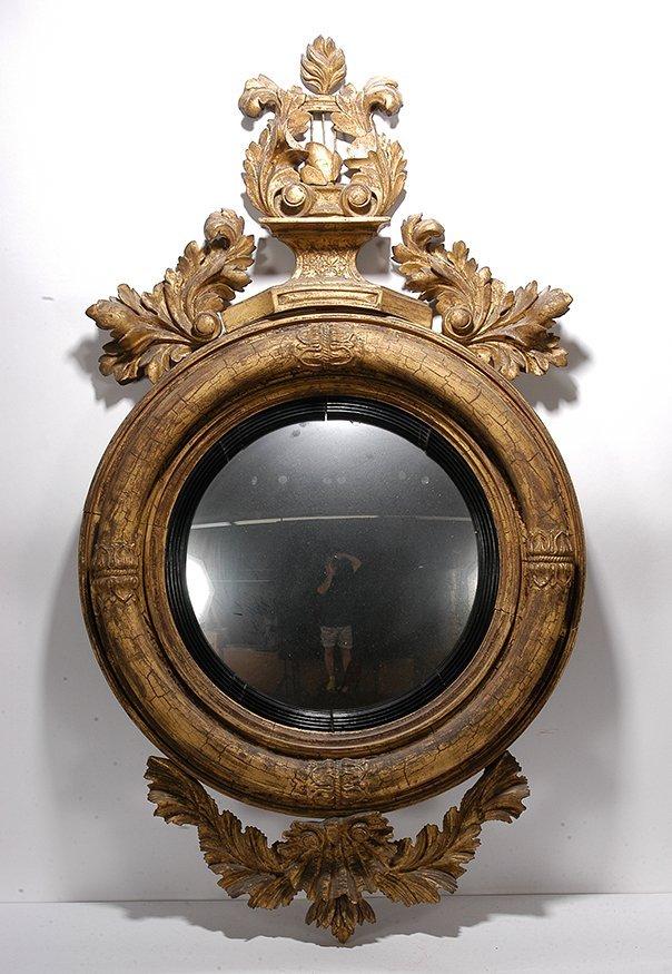 Scottish Round Gilded Mirror.