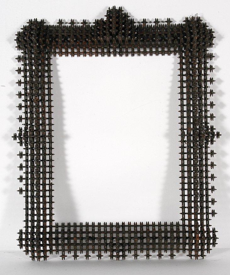 Lg Crown Of Thorn Frame w Pyramids.