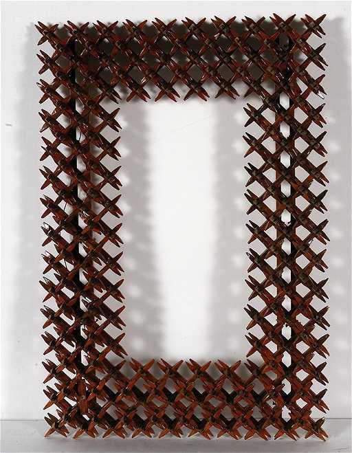Tramp Art Crown Of Thorn Frame.