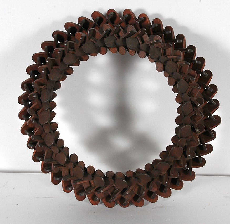 Oval Tramp Art Puzzle Frame.