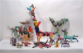 Oaxacan Mexican Art. 16 Animal Figures.