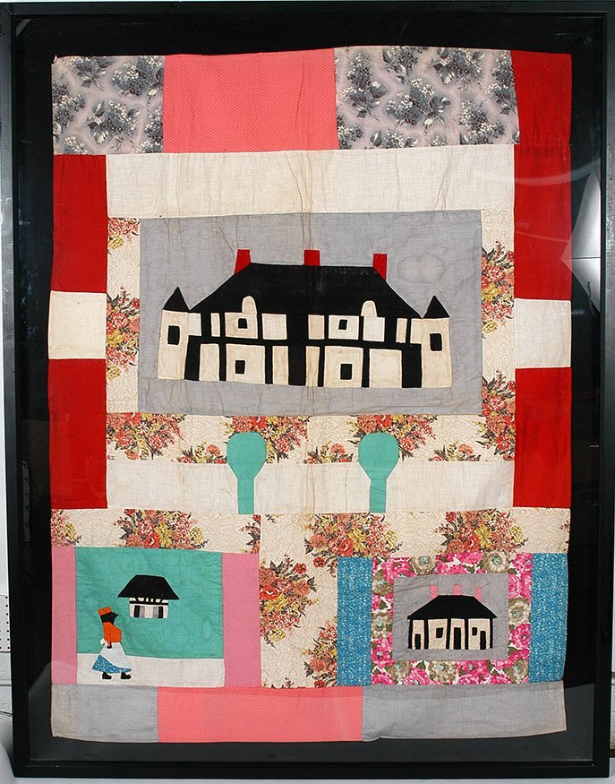 Clementine Hunter. Melrose Plantation Quilt.