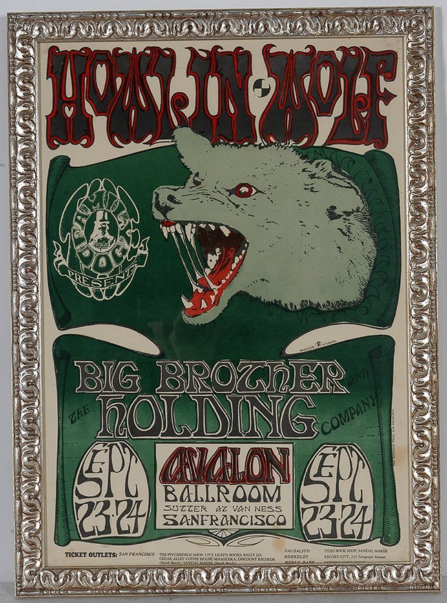 Howlin Wolf At the Avalon Concert Poster.
