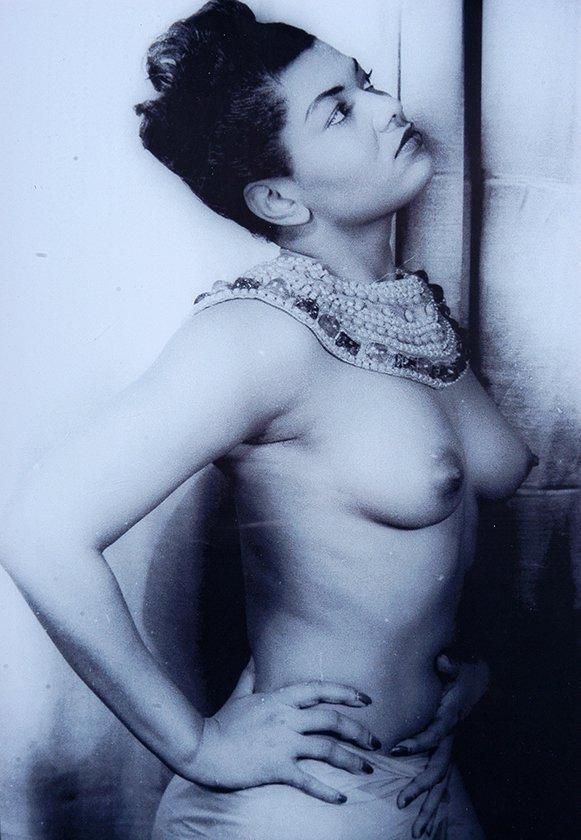 Pearl Bailey. Semi-Nude Photograph w Signature Card.