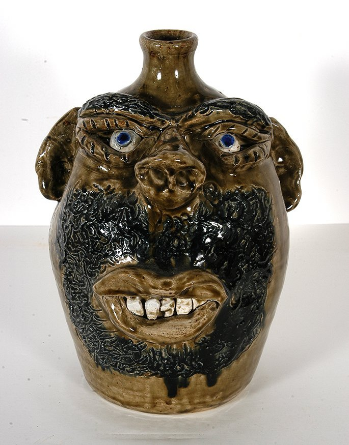 Jerry Brown. Bearded Face Jug.