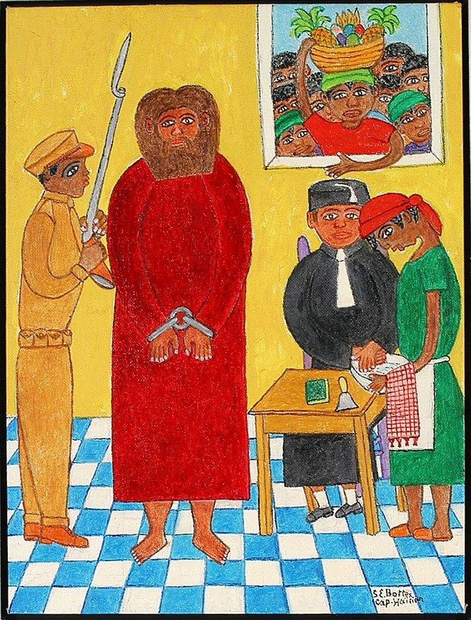 Seymour Etienne Bottex. Jesus Before Pontius Pilot