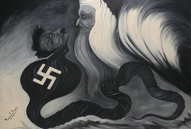 Marian S. Bush. Hitler Meets God.