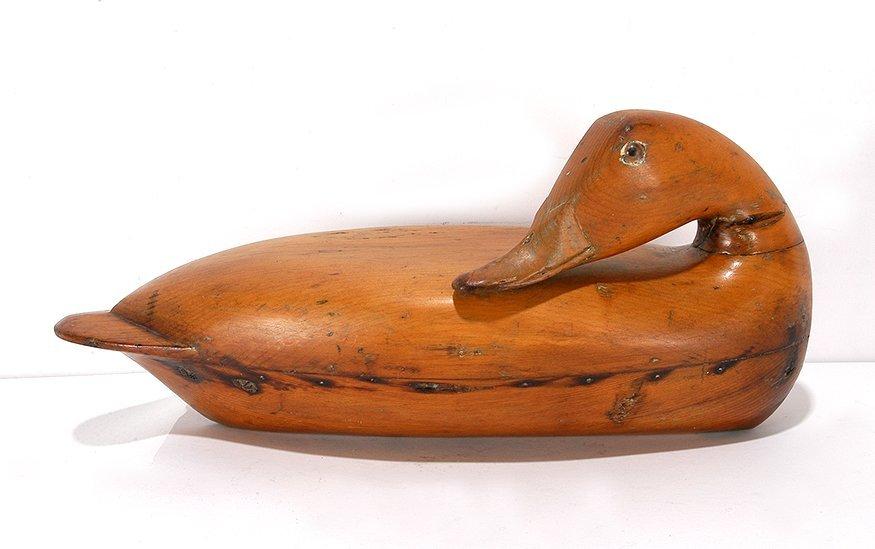 Robert Elliston. Sculptural Preening Mallard.