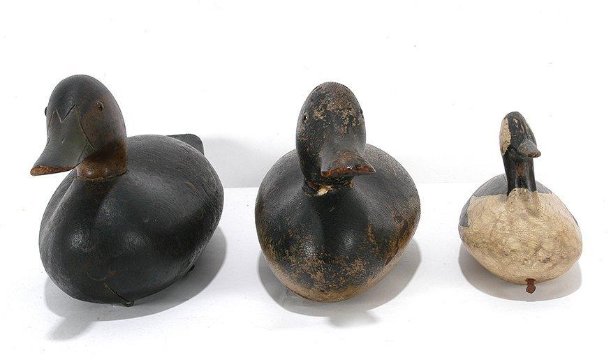 Three Duck Decoys.
