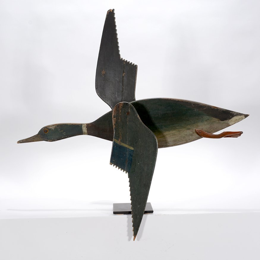 Upstate New York Maker. Flying Mallard Whirligig.