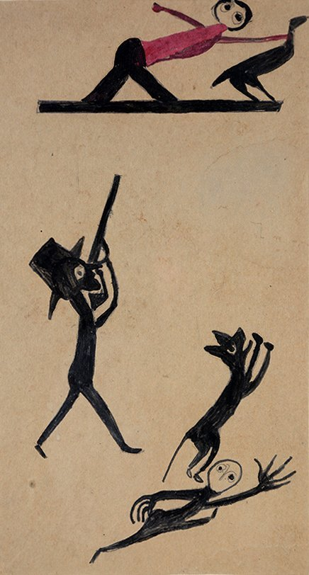 Bill Traylor. Chicken Stealing