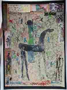 Purvis Young. Figure On Horseback.