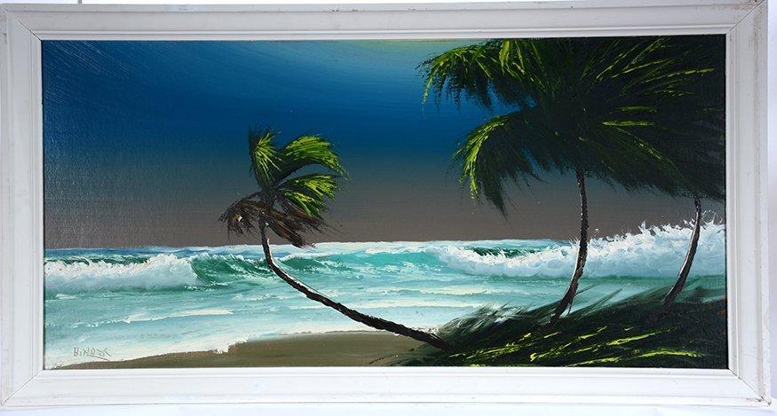 Alfred Hair. Crashing Wave At Palm Coast.