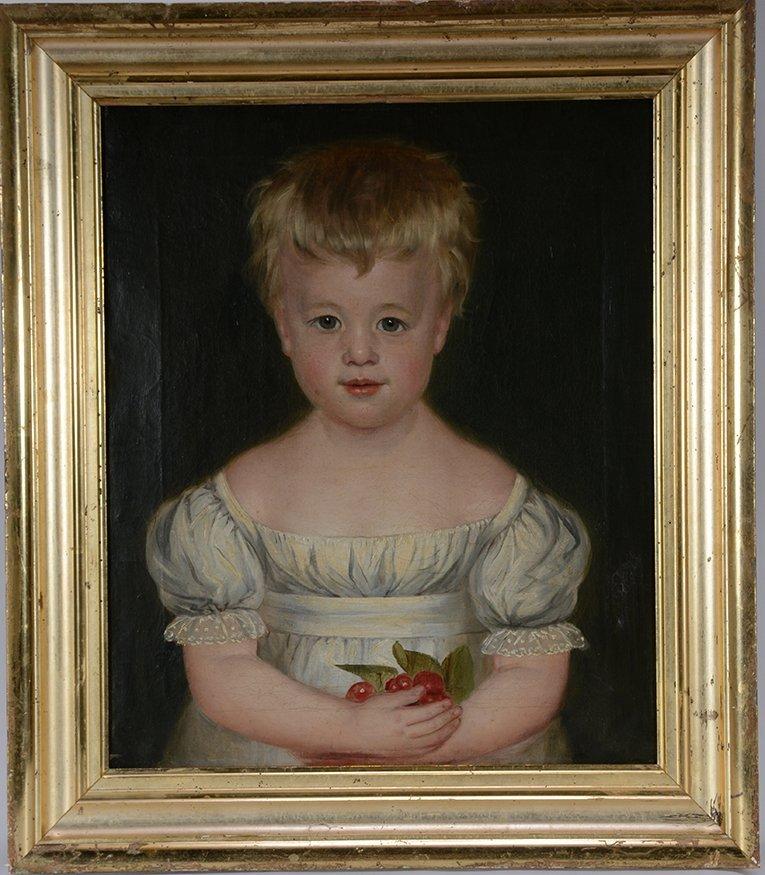 Child With Fruit Portrait.