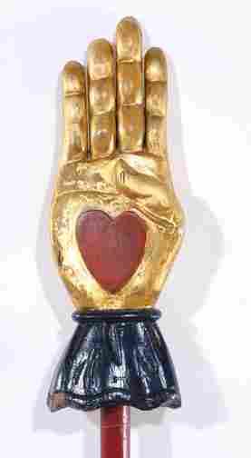 Odd Fellows Heart in Hand Staff