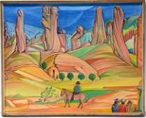 Louis Monza. South Western Navajo Scene.