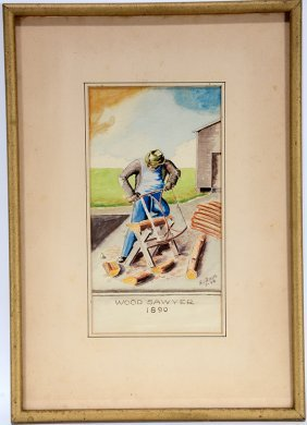 Augustus I. Riedel. Wood Sawyer, 1890.