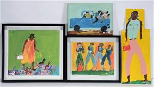 Woodie Long. Group Of Four Works.