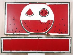 Miles Carpenter. Watermelon Sign.