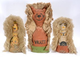 3 Double-sided Carnival Knock Down Dolls.