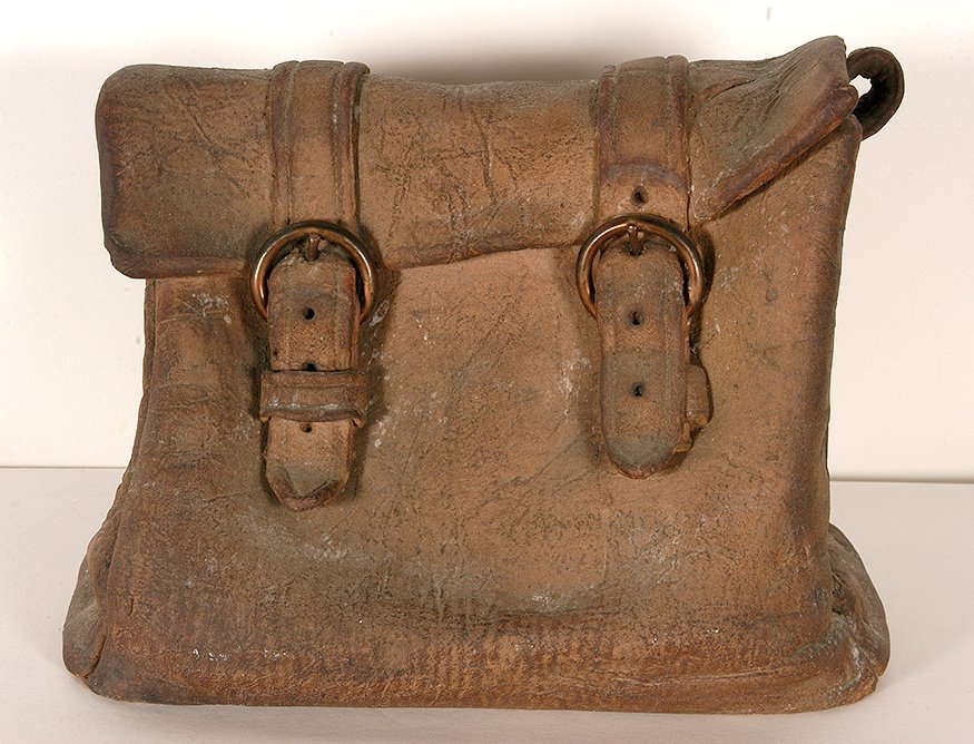 Marilyn Levine. Ceramic Saddlebag.