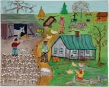 Unknown Artist. Southern Farm Scene.