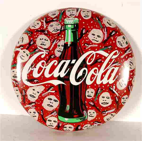 Howard Finster. Coca-Cola Sign With Faces.