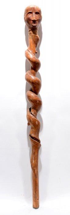 Spiral Vine Cane With Man's Head.