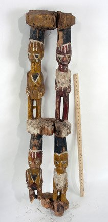 7: House Post with Ancestral African Figures