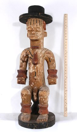 10: Stylized Seated Urhobo Male Figure