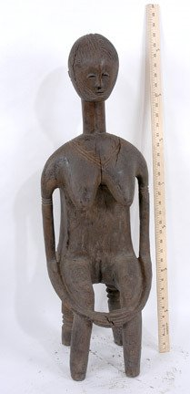 13: Stylized Seated African Woman