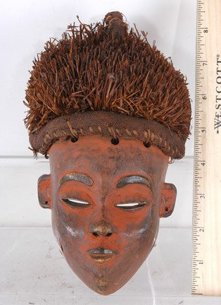 49: Mini African Mask with Red Encrustation