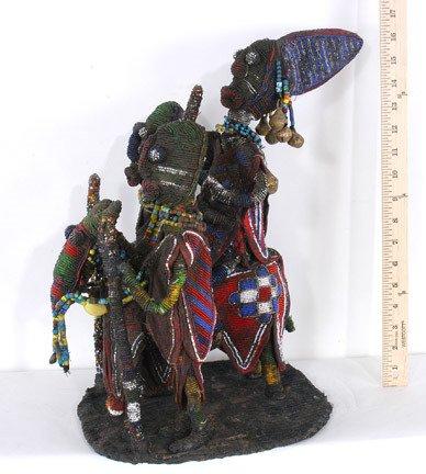 124: Yoruban Beaded King on Horseback