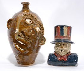 Terry King & Crystal King. Face Jug and Uncle Sam