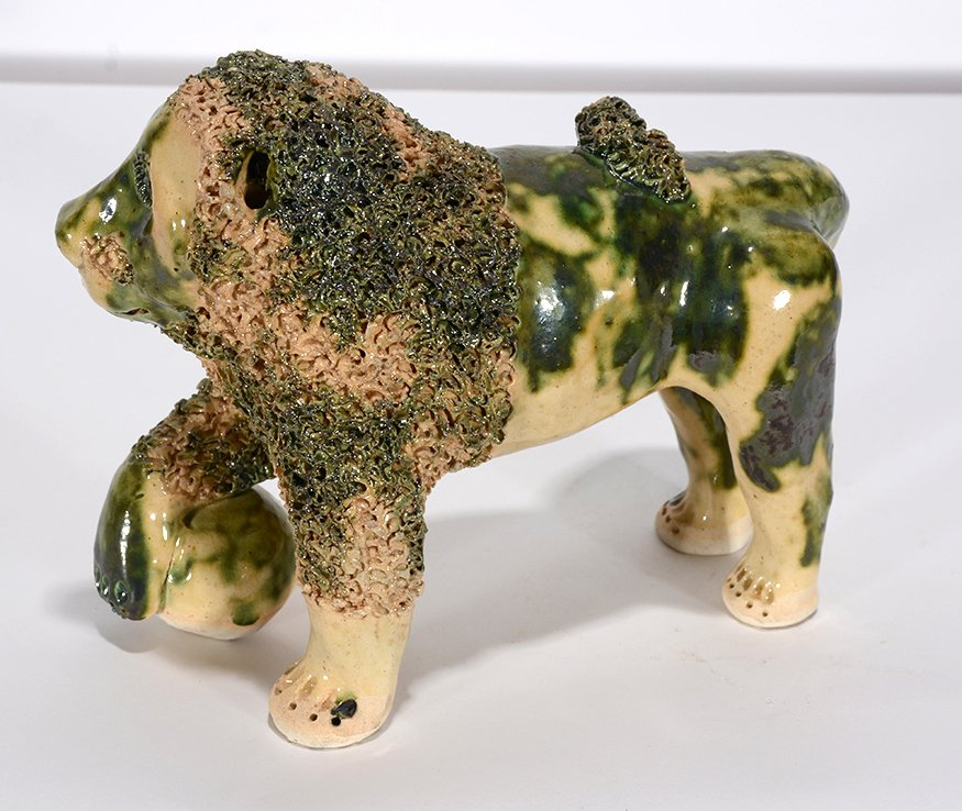 Billy Ray Hussey. Green And Cream Bennington Lion. - 2