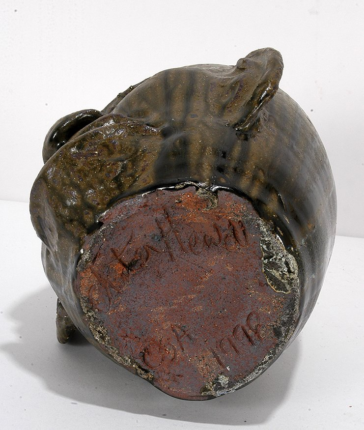 Chester Hewell. Face Jug With Lizard. - 4