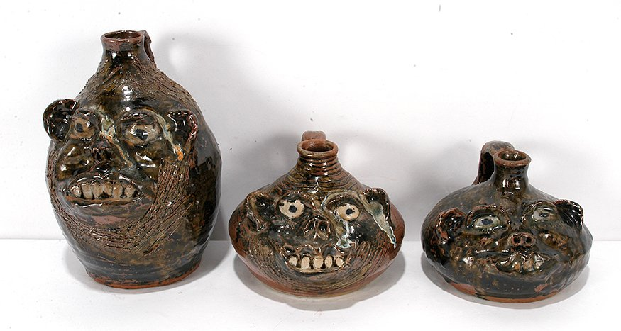 Marie Rogers. Three Buggy Jugs.