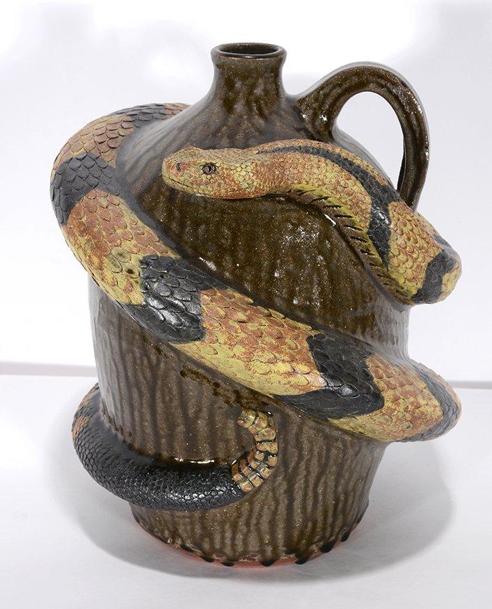 Melvin Crocker. Rattlesnake On Tobacco Spit Glaze