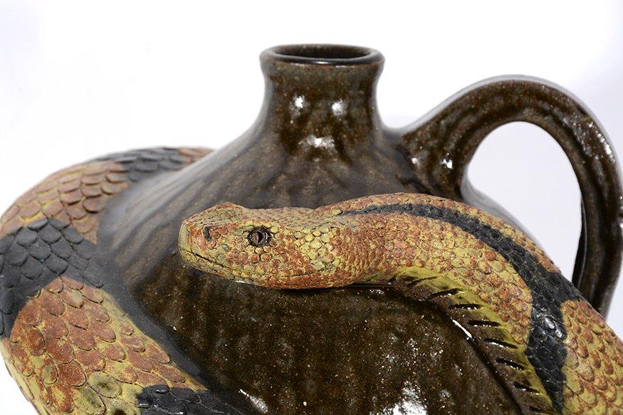 Melvin Crocker. Rattlesnake On Tobacco Spit Glaze - 2