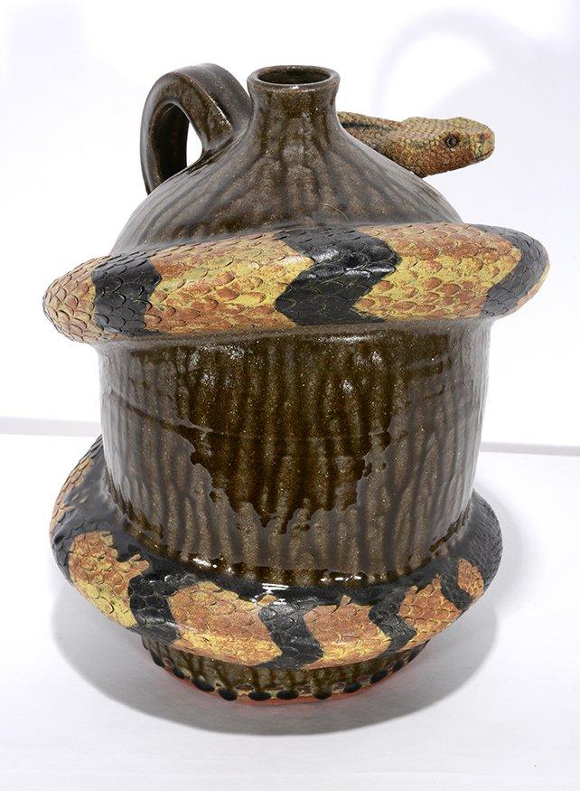 Melvin Crocker. Rattlesnake On Tobacco Spit Glaze - 3