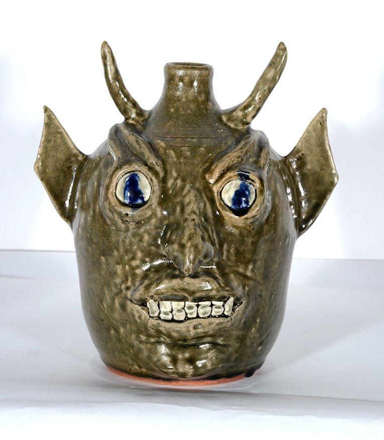 John Meaders. Devil Face Jug, #18