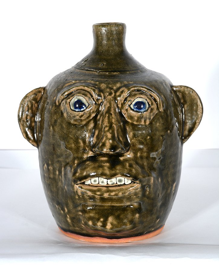 John Meaders. Face Jug with Blue Eyes, #20.