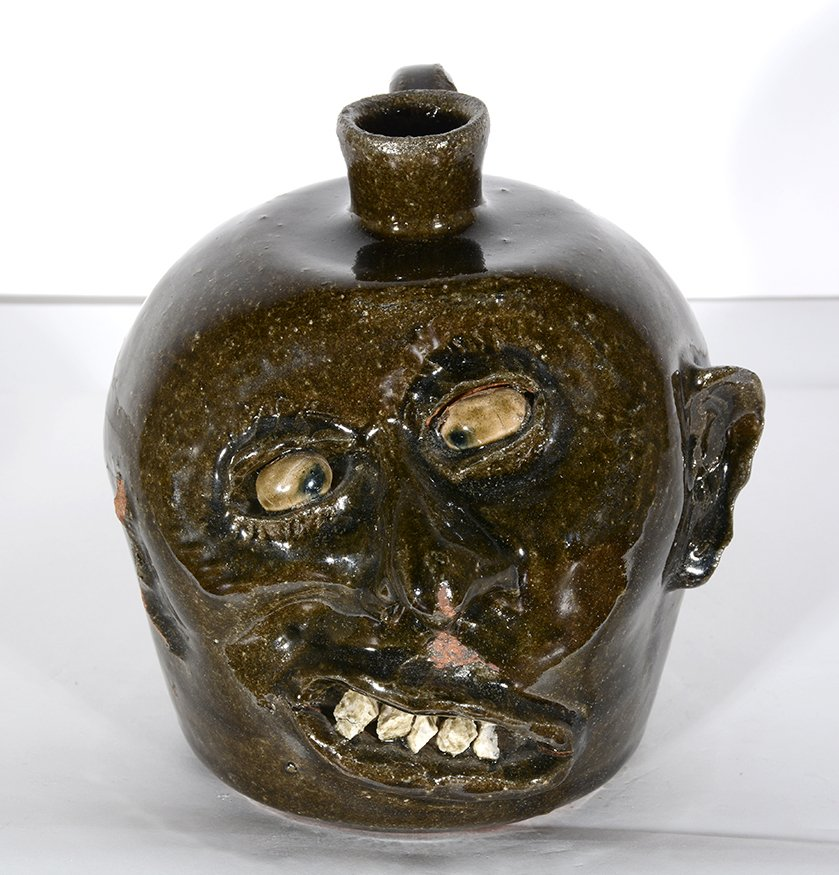 Lanier Meaders. Vango Face Jug. - 2