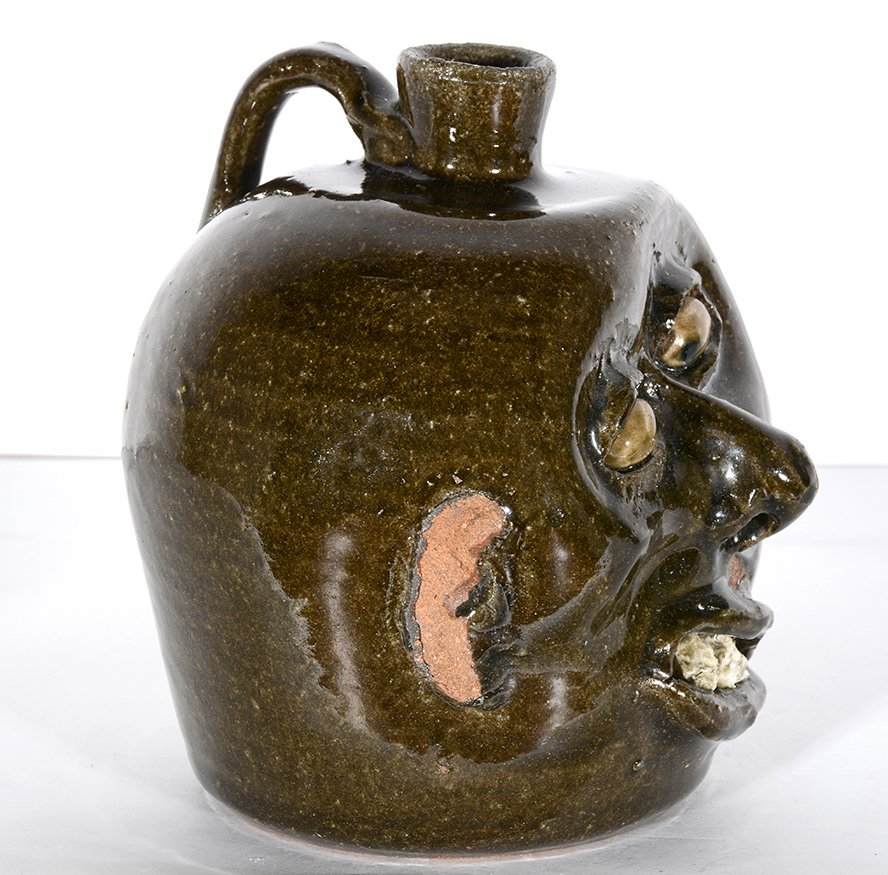 Lanier Meaders. Vango Face Jug. - 6