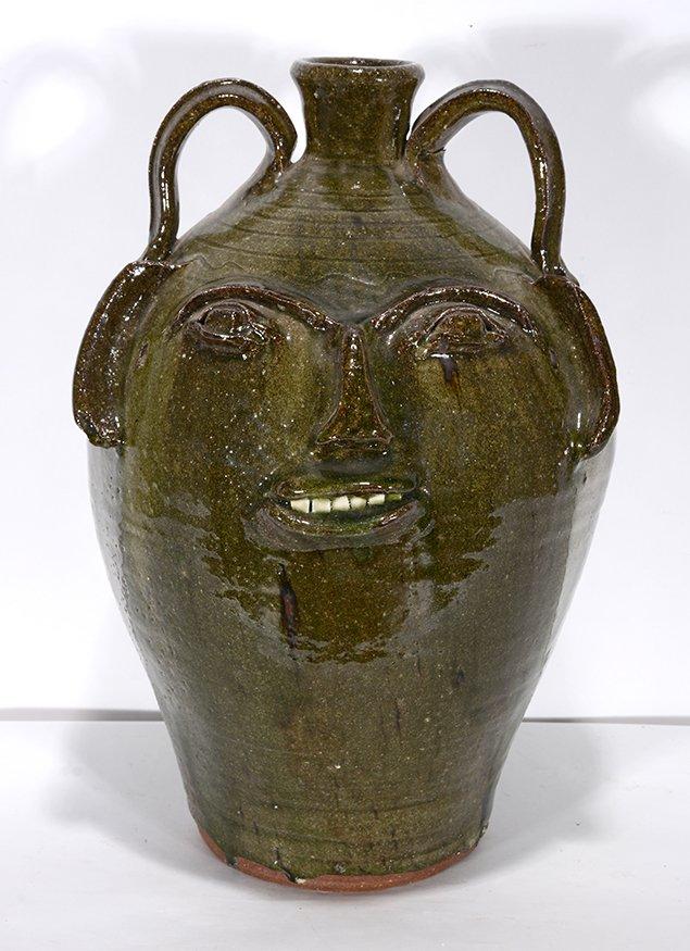 B.B. Craig. Large Five Gallon Early Face Jug. - 2