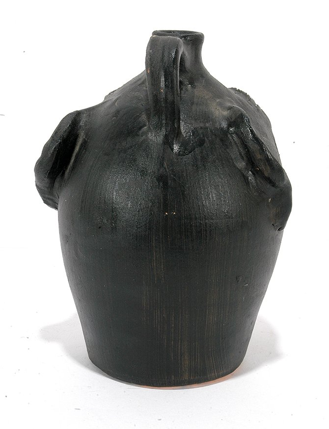 Brown Pottery. Black Face Jug. - 3